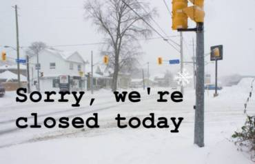 SNOW DAY, should your customers care ?