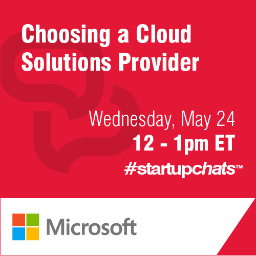 Choosing a Cloud Solution Provider #StartupChats
